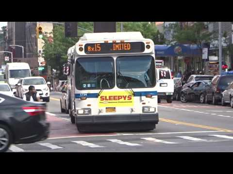 MaBSTOA: New Flyer D60HF # 5524 & 5734 On A West Harlem-bound Bx15 Limited