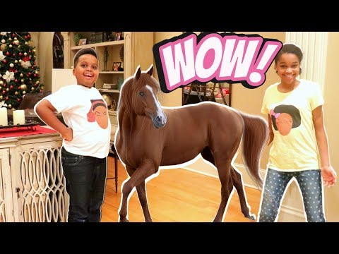 Thumbnail: Bad Baby HORSE GOES WILD IN THE HOUSE! - Bad Baby Shiloh and Shasha Onyx Kids
