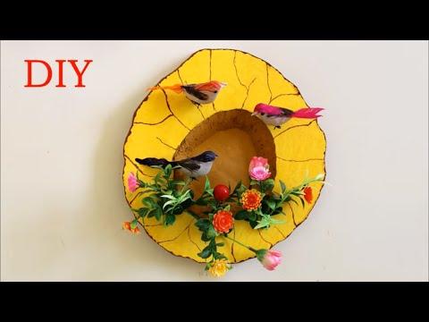 WOW !!! Wall Decoration Idea using Thermocol || How to Make Birds Nest Craft | DIY | Handmade crafts