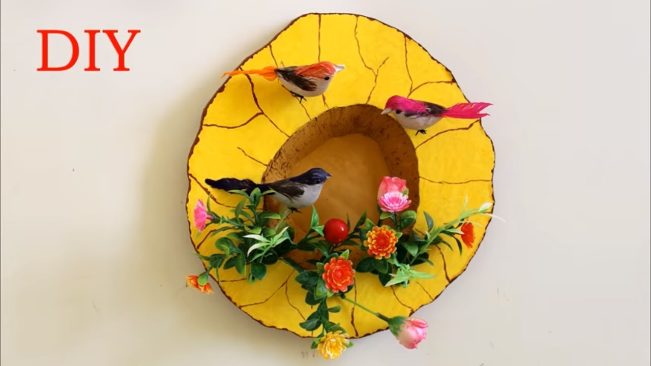 WOW !!! Wall Decoration Idea using Thermocol || How to Make Birds ...