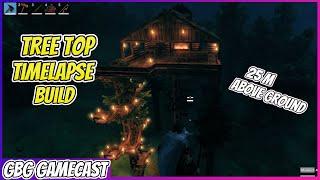 Tree Top House | Valheim Time-Lapse Build