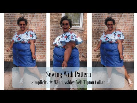 Sewing With Pattern | Simplicity #8344 Ashley Nell Tipton