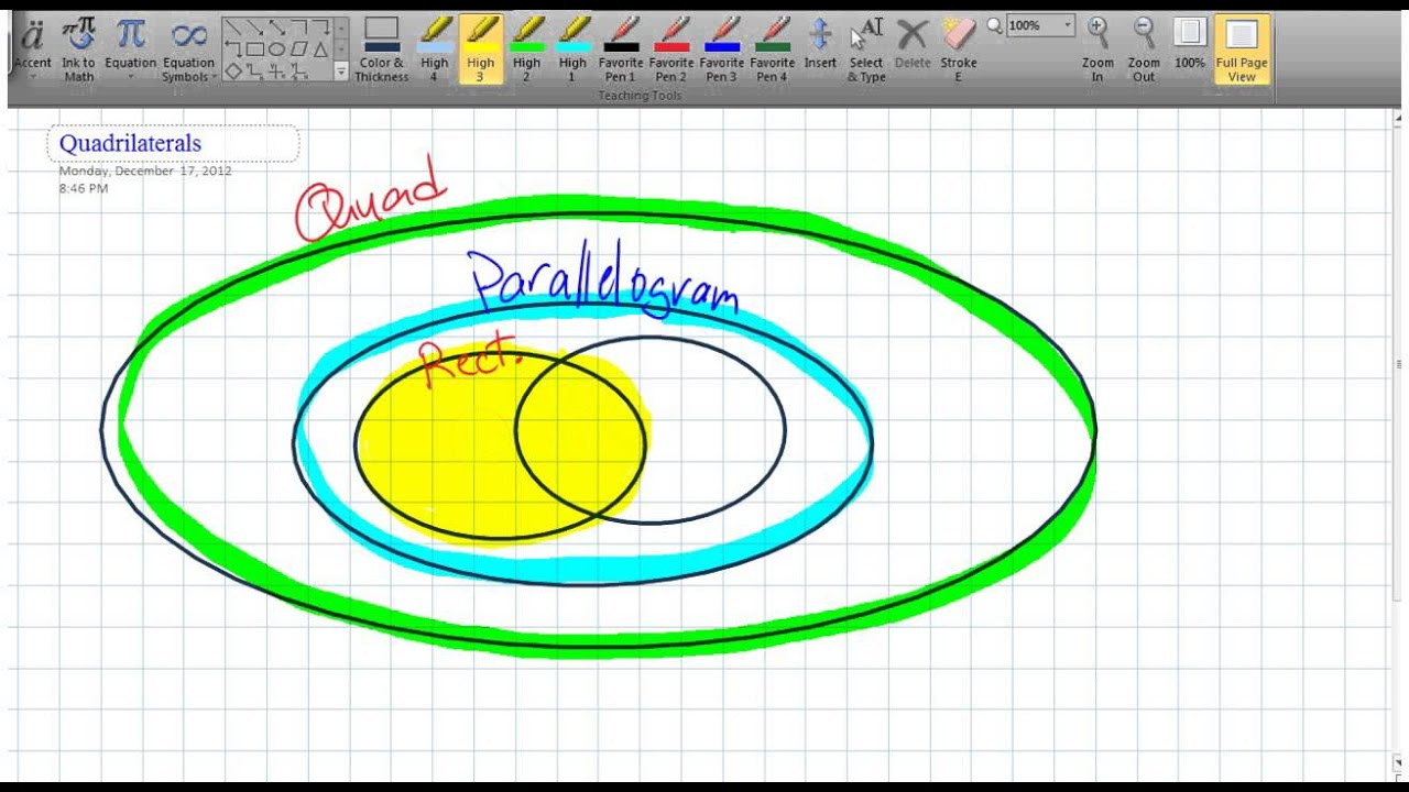 Overview of quadrilateral in a venn diagram 6v1 youtube overview of quadrilateral in a venn diagram 6v1 ccuart Choice Image