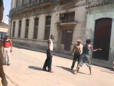 CUBAN PEOPLE FIGHTING!!!!  SANTIAGO DE LAS VEGAS
