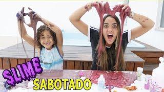 DESAFIO DA ROLETA MISTERIOSA DE SLIME SABOTADO!! (MYSTERY WHEEL OF SLIME CHALLENGE)