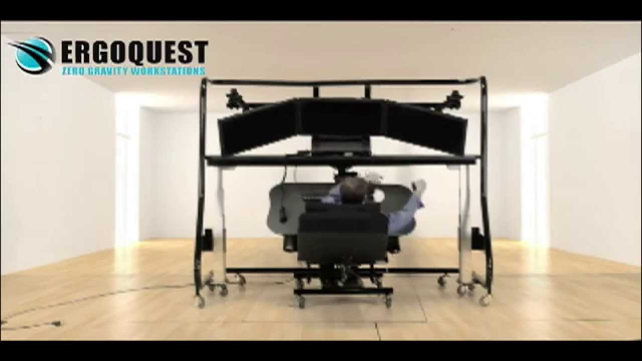 Zero Gravity Chair Workstation With Large Monitors Youtube