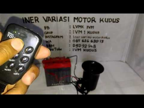 Sirine Polisi 6 Suara mic / Toa keras / 6 police siren sounds with the microphone INER IVM KUDUS