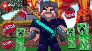 OBSIDIAN ARMOR IS CREEPER-PROOF!!   Minecraft: One Life [#2]