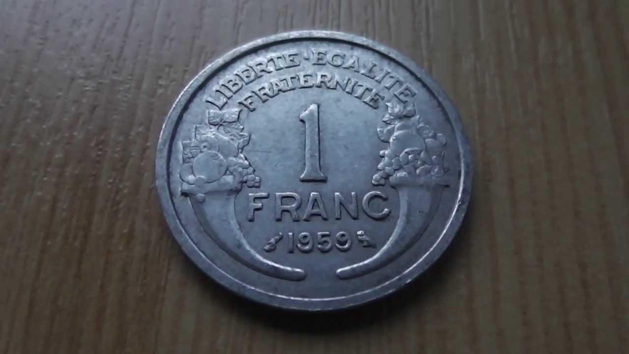 1 Franc Münze Aus Frankreich Von 1959 Liberte Eaglite Fraternite