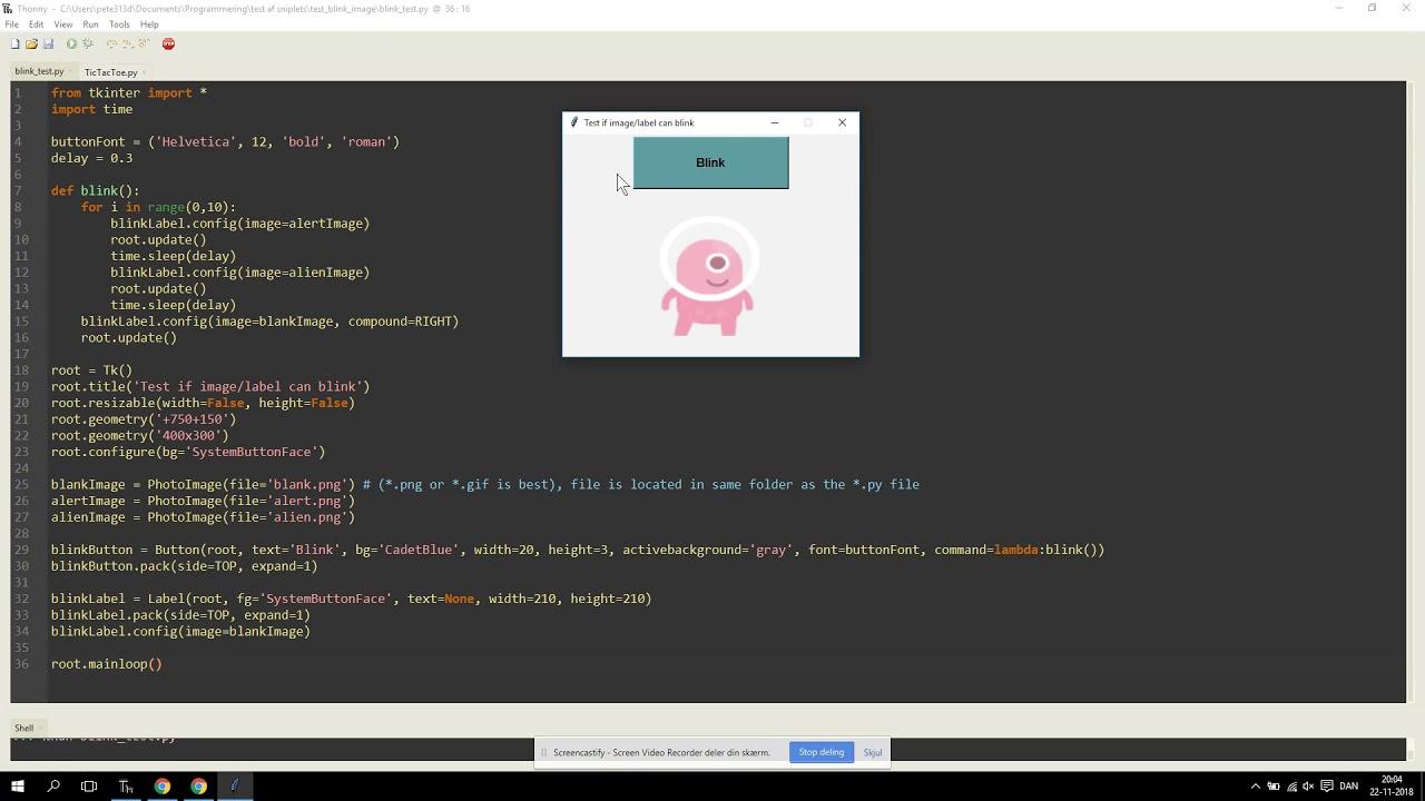 Oscillating images in tkinter & Python