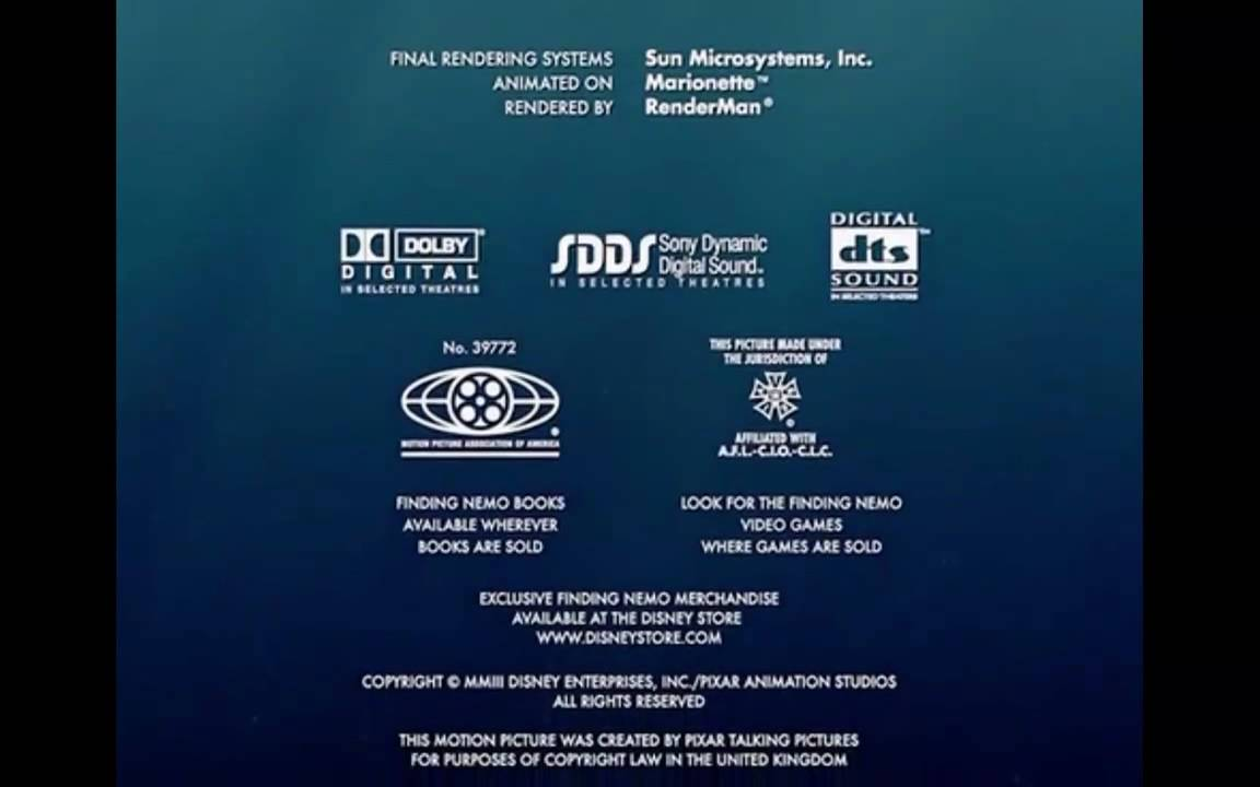Finding Nemo credits surprise! - YouTube