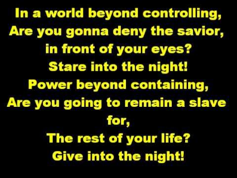 The Night - Disturbed (Lyrics)