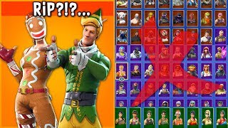 R.I.P my REMAINING RARE SKINS in Fortnite... ($500+ Locker Tour)