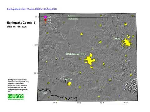 New Madrid About to Break | USGS: 2008-2014 Oklahoma Seismic Activity Animation