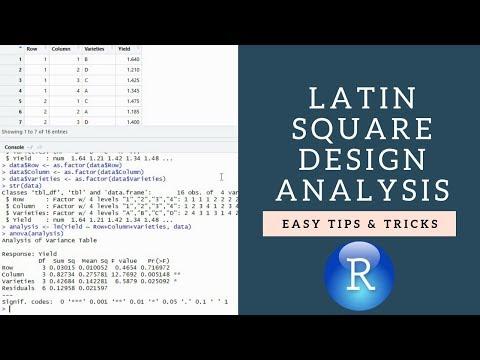 Analysis of Latin Square Design using R