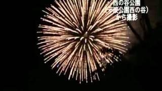 第52回水戸黄門まつり花火大会の様子です。*千波公園西の谷から撮影.