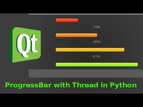 PyQt Progress bar with Thread
