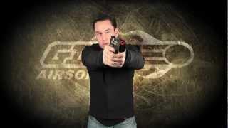Airsoft GI - H&K USP Match Gas Blow Back Pistol OEM by KWA