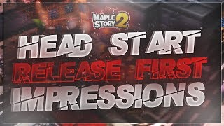 MapleStory 2 - HEAD START First Impressions!