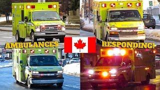 Montréal/Pointe-Claire | Urgences-Santé EMS Ambulances Responding With Lights & Siren