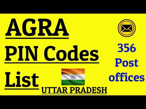 AGRA PIN Code s List || 356 Post Offices || UTTAR PRADESH