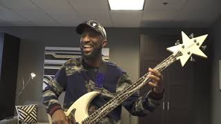 Rickey Smiley Shows The Bass Guitar Bootsy Collins Gave Him