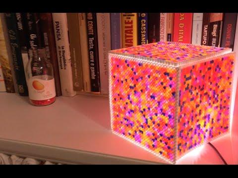 Lampada Lego Cuore : Tutorial lampada con i pyssla hama bead lamp by lilla youtube