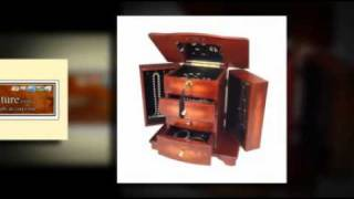 Belinda Musical Jewelry Box In Cherry