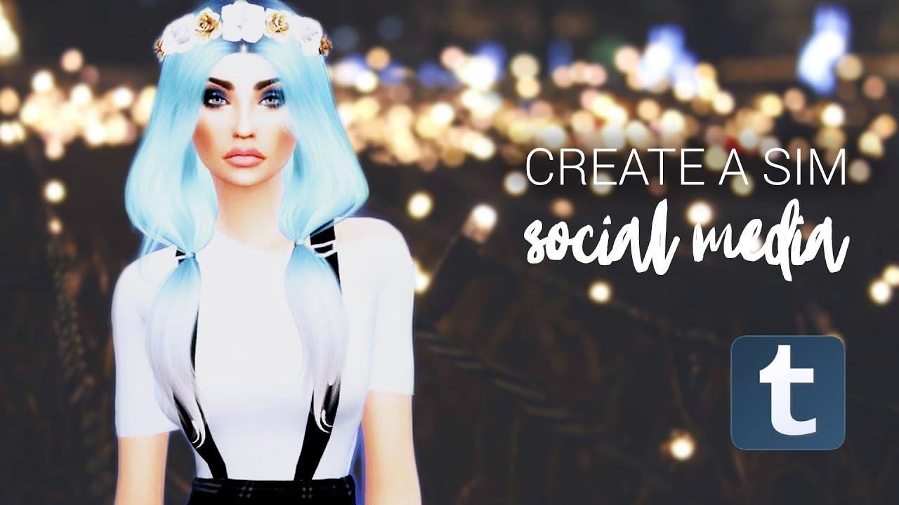 Sims 4 Cas Social Media Tumblr Youtube