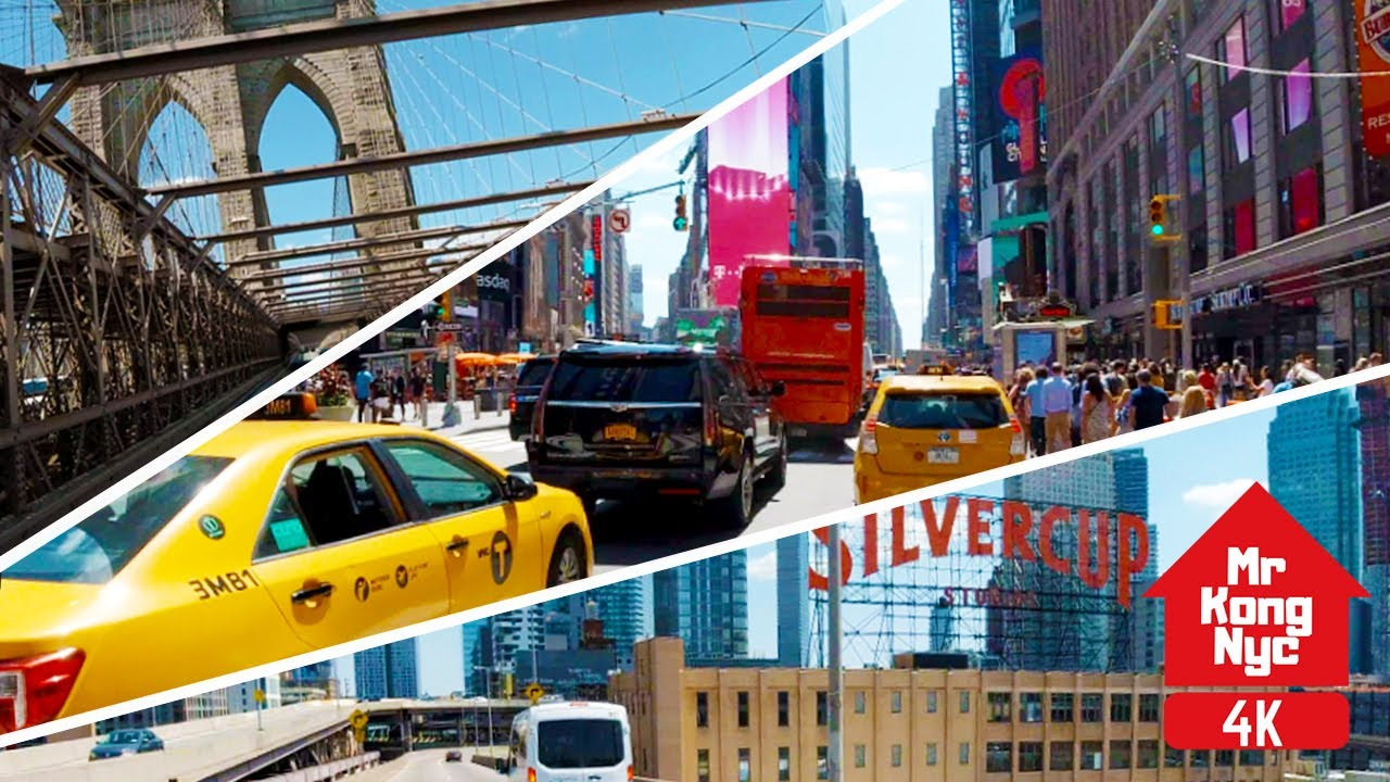 [4k] Riding New York Brooklyn Barclays thru Manhattan to Queens LIC