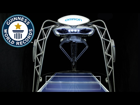 Table tennis playing robot breaks world record  - Japan Tour