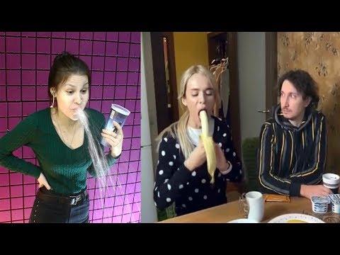 Самое смешное видео в мире. Попробуй не засмеяться с водой во рту челлендж ч. 99