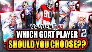 Madden 18 ultimate team: which goat player you should choose!