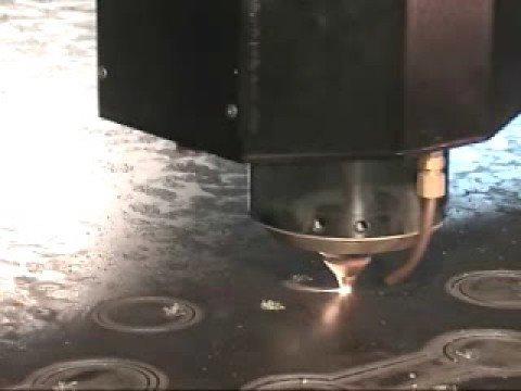 Laser Cutting 1 Inch Plate Steel On A Cincinnati Cl 850