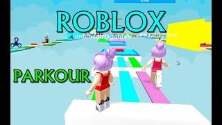 ROBLOX-Ana & Bela Double-dose challenges at Parkour