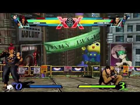 Ultimate Marvel VS Capcom 3 (Xbox 360) Arcade as Ryu, Chun-Li & Akuma