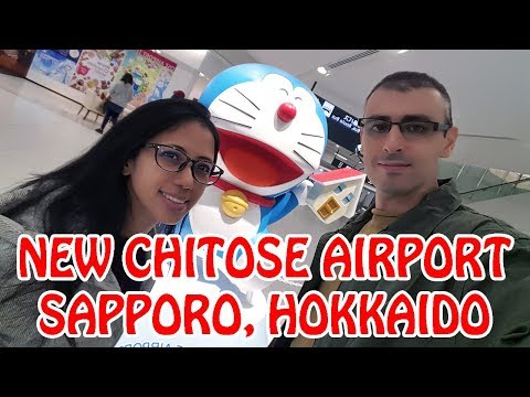 Exploring New Chitose Airport in Sapporo with DORAEMON and PIKACHU   Japan Vlog