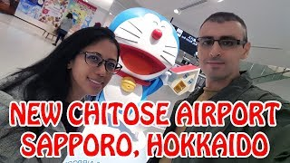 Exploring New Chitose Airport in Sapporo with DORAEMON and PIKACHU | Japan Vlog