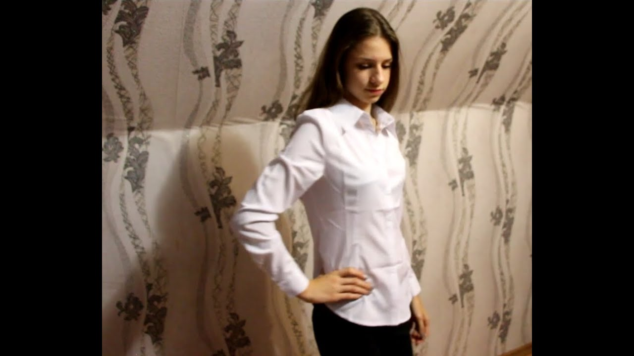 женская рубашка на резинке длинный рукав - YouTube