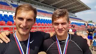 Виталий Ершов и Олег Гусев чемпионы России-2018 в гребле на байдарке-четверке 500 м