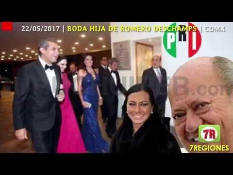 La lujosa BODA de la hija de Carlos Romero Deschamps dueño de PEMEX