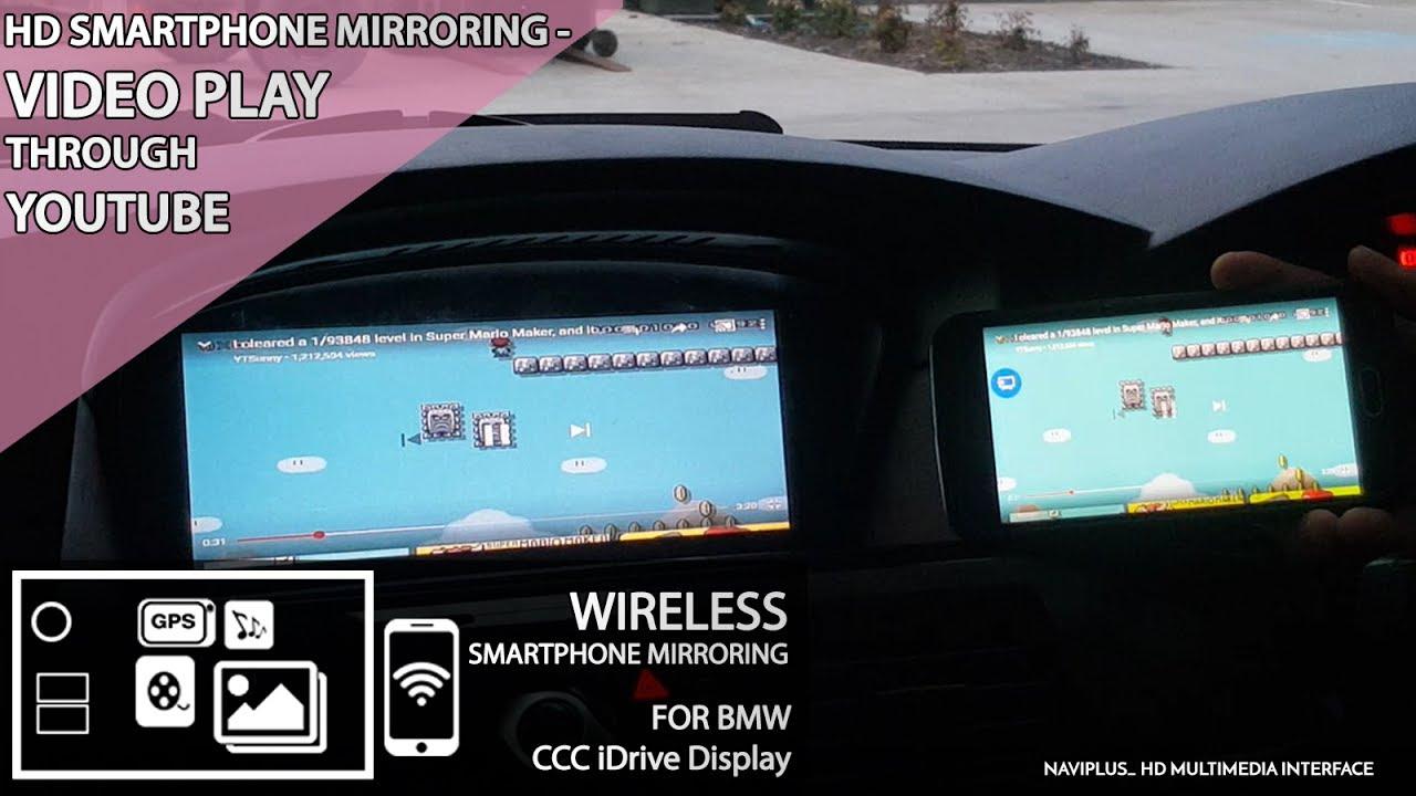 BMW CCC iDrive - HD Smartphone Mirroring # Video Play