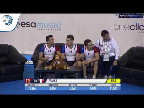 REPLAY: 2017 Aerobics Europeans - Senior FINAL Trios, plus medal ceremony