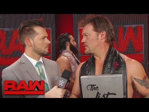 "Chris Jericho puts Elias Samson on ""The List"": Raw, April 17, 2017"