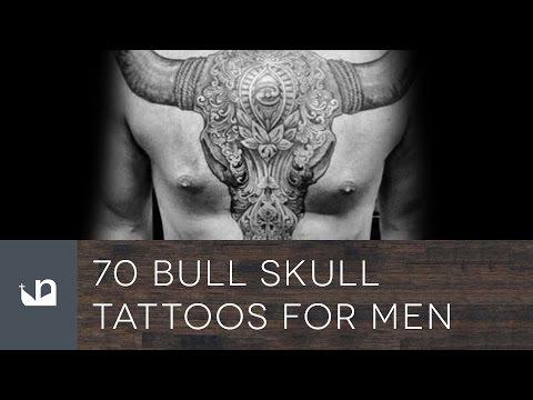 70 Bull Skull Tattoos For Men