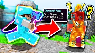 SECRET FIRE ASPECT AXE!! (Minecraft MEGA Skywars)