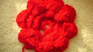 Урок 21. Осенний цветок. 5 ряд. Вязание крючком.(Как связать цветок крючком. Продолжение видео из этой серии., 2013-04-24T07:54:35.000Z)