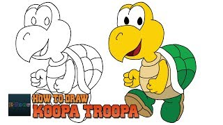 How to Draw Koopa Troopa Super Mario | Art Tutorial Easy Step by Step