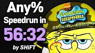 SpongeBob SquarePants: Battle for Bikini Bottom Any% Speedrun in 56:32 (WR on 5/14/2018)