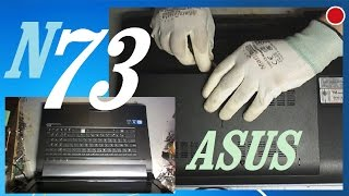 ASUS N73 Disassembly. How to Remove the Bottom Cover. Removing the Keyboard